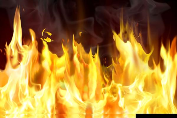 خسارت آتش سوزی به منطقه سیاهو