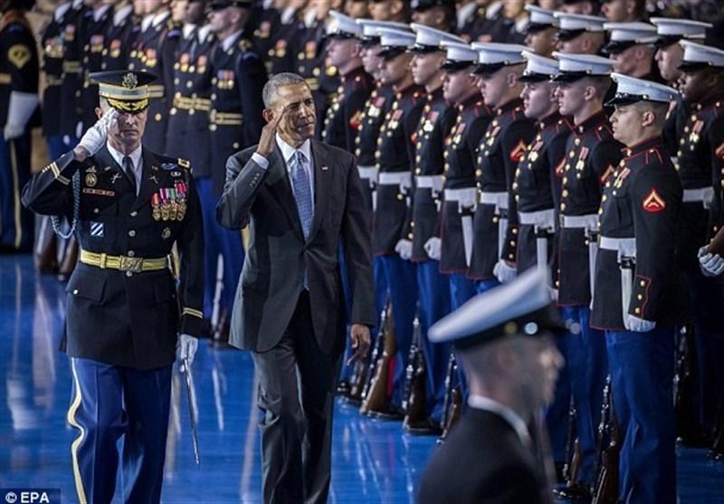 حادثهای که مراسم وداع اوباما را تحتالشعاع قرار داد + عکس
