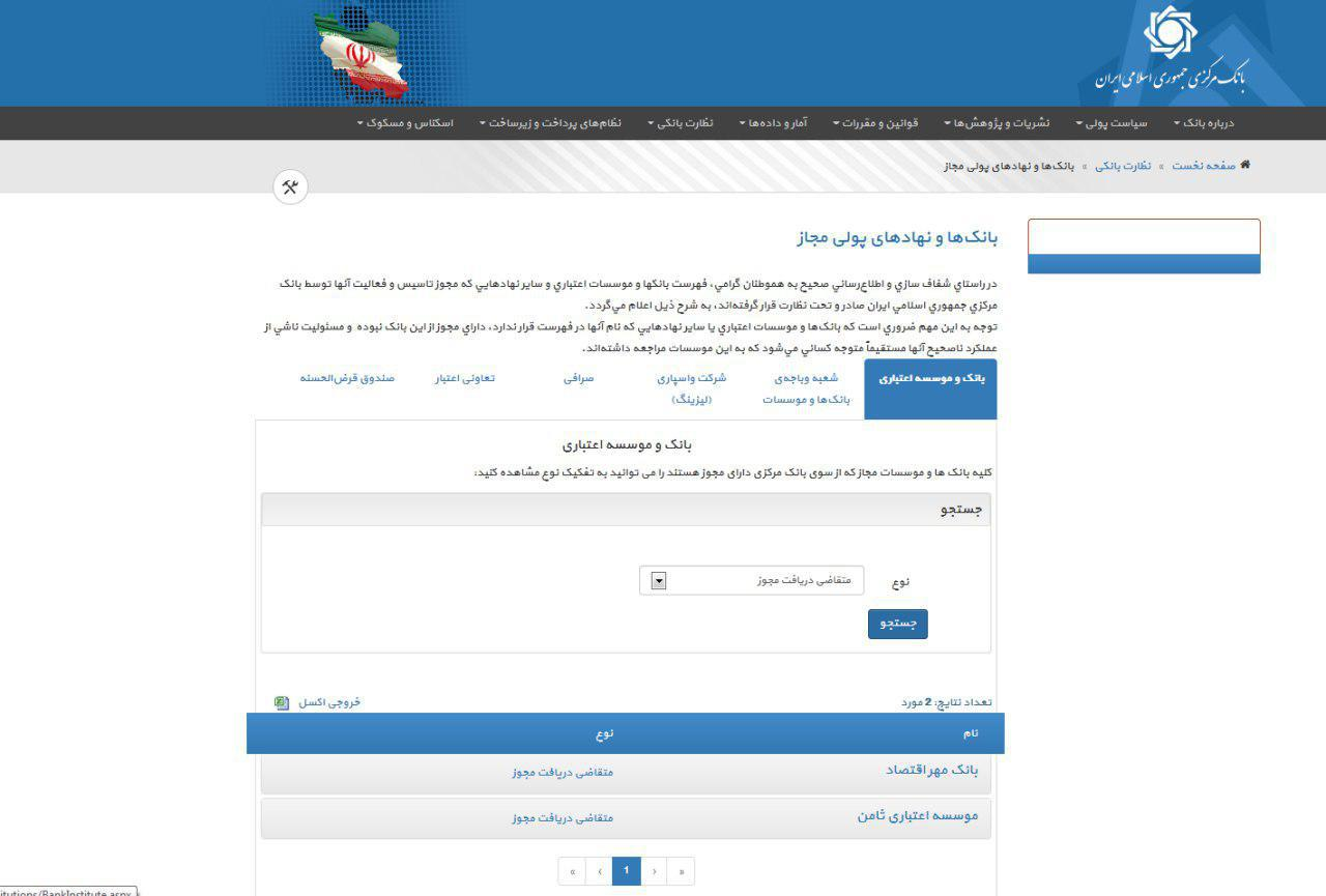 عیدی بانک مرکزی به سپرده گذاران و مشتریان موسسه اعتباری ثامن