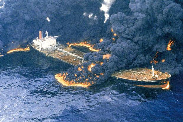 از سرگیری مجدد اطفای حریق نفتکش ایرانی با حضور چینیها و ژاپنیها از صبح فردا