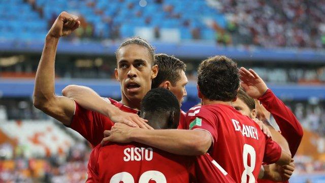 گلزن تیم دانمارک، برترین بازیکن دیدار تیمش مقابل پرو شد