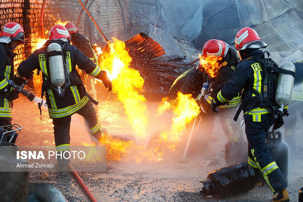 انفجار و آتش سوزی جایگاه گاز مایع – قم