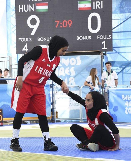 دومین شکست دختران بسکتبالیست ایران در المپیک جوانان