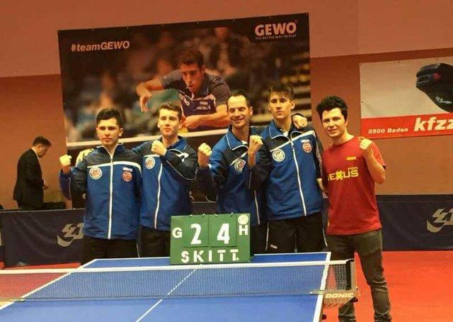 پیروزی امین احمدیان و تیمش در لیگ تنیس روی میز اتریش