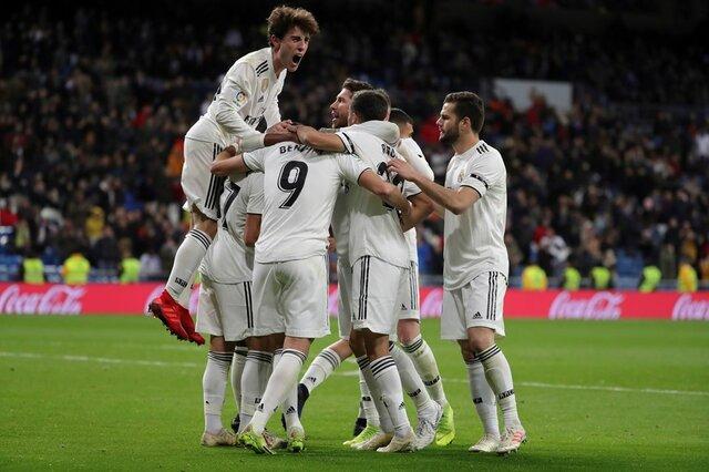 پیروزی رئال مادرید در شب تساوی اتلتیکو  در کوپا دلری