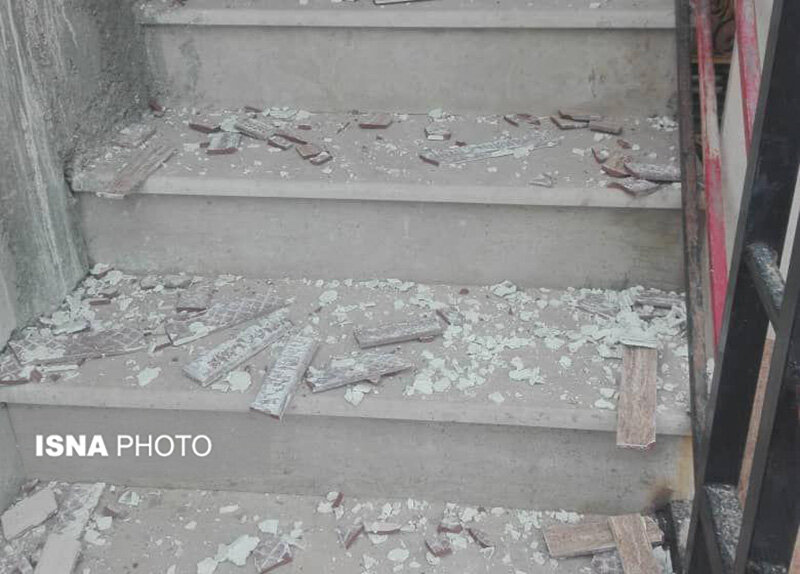 مصدومیت دو نفر و آسیب دیدگی ۲۰ باب منزل در بندر پهل