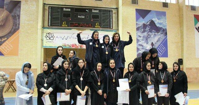 قهرمانی بانوان بسکتبالیست دانشگاه فردوسی در رقابتهای دانشجویان کشور