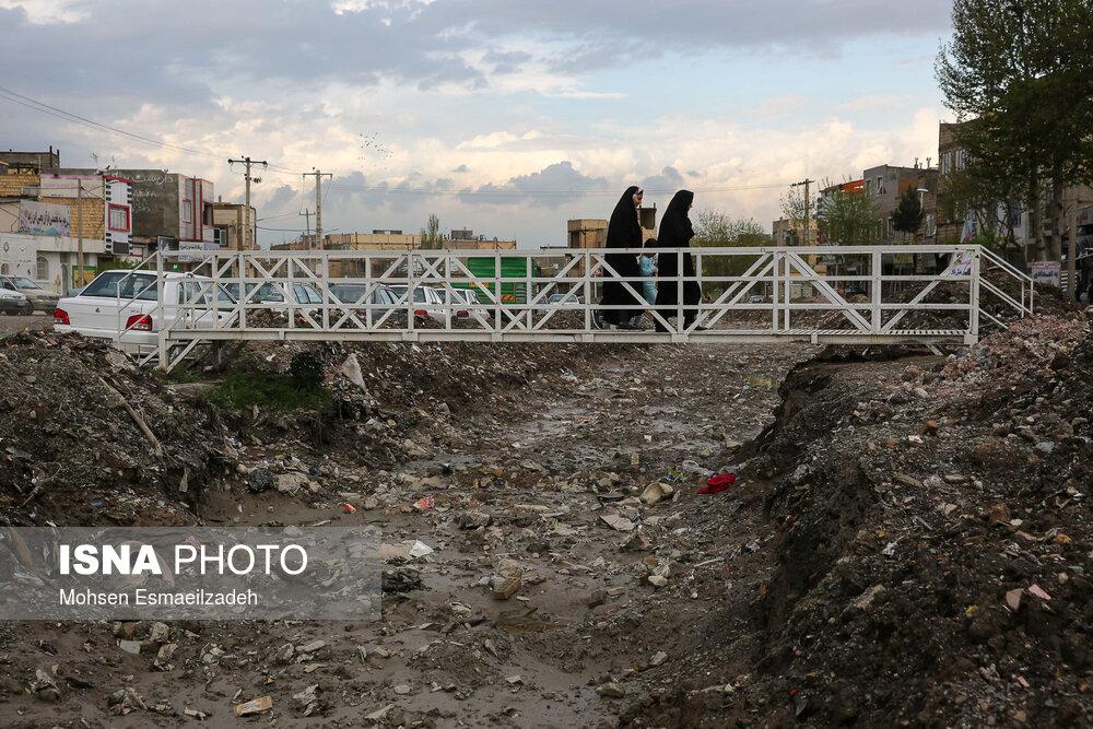 در مسیر سیلاب مشهد