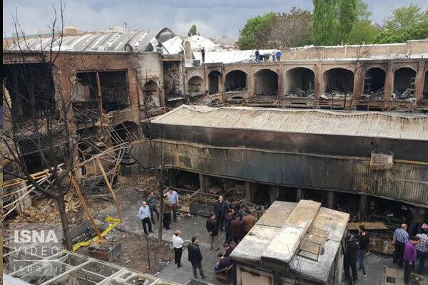 ویدئو / آخرین وضعیت بازار تبریز بعد از آتشسوزی اخیر
