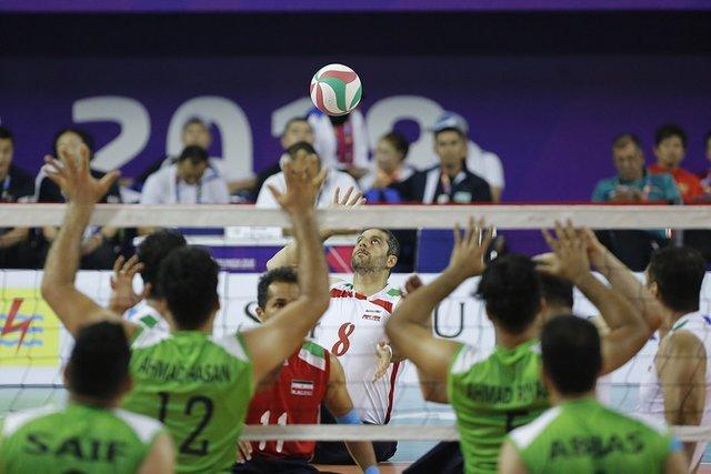 دومین پیروزی تیم والیبال نشسته مردان ایران برابر تیم میزبان