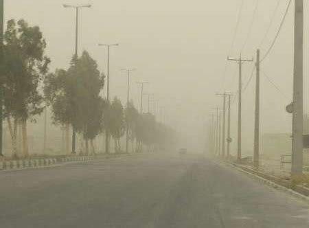 وقوع گرد و خاک در زابل و خوزستان