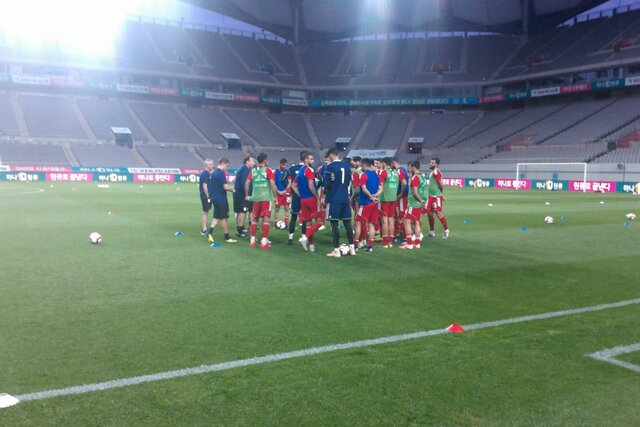 برگزاری آخرین تمرین تیمملی فوتبال ایران پیش از بازی با کرهجنوبی