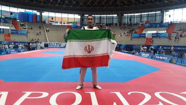 هادی پور دومین طلایی تکواندوی ایران در ایتالیا / هت تریک طلای آرمین در یونیورسیاد