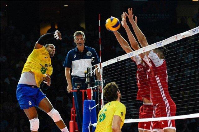 شکست ستارههای والیبال برزیل مقابل جوانان لهستان