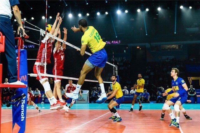 آمار بازی تیمهای ملی والیبال برزیل و لهستان