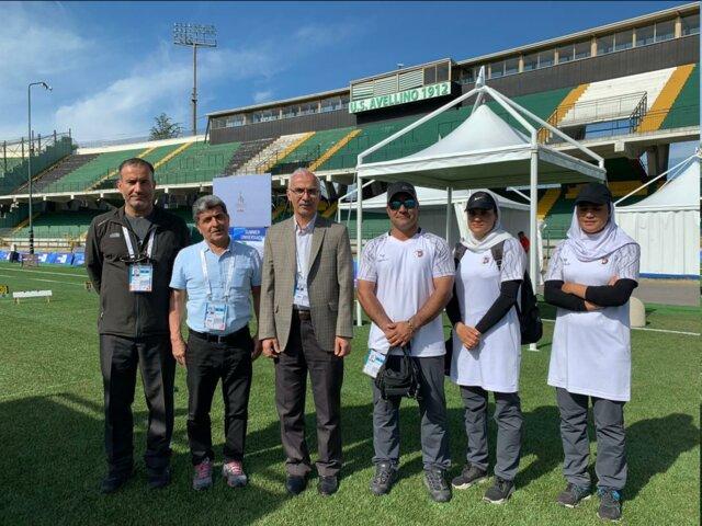 دیدار صدیقی با تیم تیراندازی با کمان ایران در یونیورسیاد