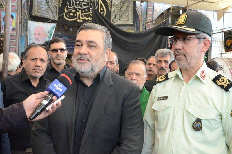 قدردانی فرمانده ناجا از همکاری عزاداران حسینی (ع) با پلیس