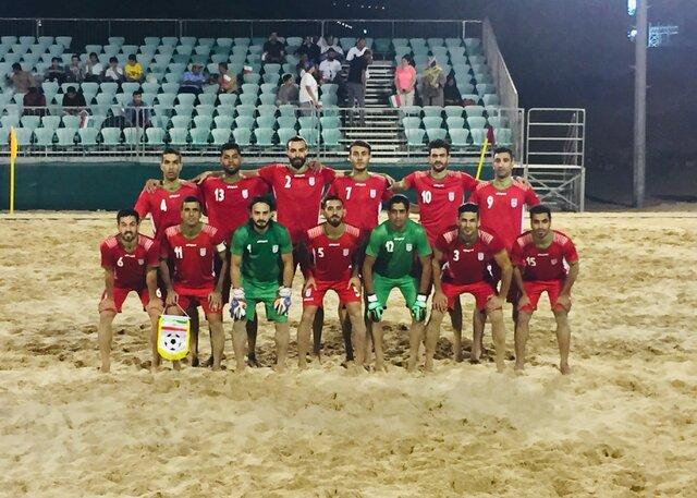 پیروزی تیم فوتبال ساحلی ایران مقابل عمان