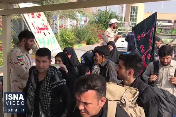 ویدئو / وضعیت تردد زائران اربعین در مرز خسروی
