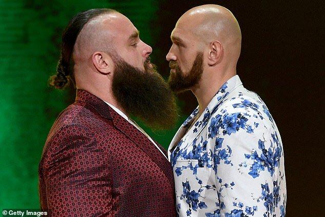 قهرمان سنگین وزن بوکس و UFC در رینگ نمایشی عربستان
