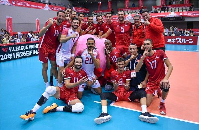 نخستین برد تونس پس از ۸ باخت/ برزیل در یک قدمی کاپ جام جهانی والیبال