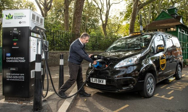 آغاز به کار اولین تاکسیهای ۱۰۰ درصد برقی در لندن