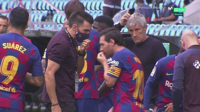 تنش میان مسی و سارابیا در دیدار بارسلونا و سلتاویگو