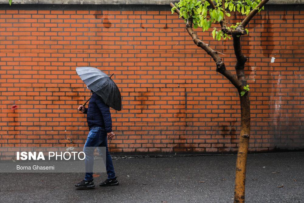 بارش باران و وزش باد شدید در برخی مناطق کشور