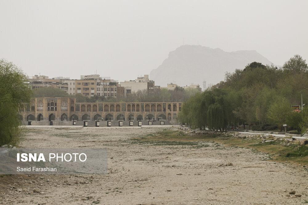 وزش باد شدید در اصفهان