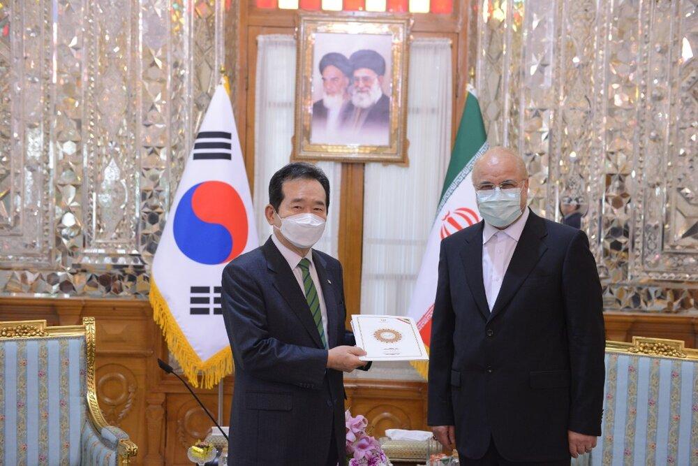 پیگیری مشکل فعالان اقتصادی ایرانی در کره جنوبی توسط رئیس مجلس