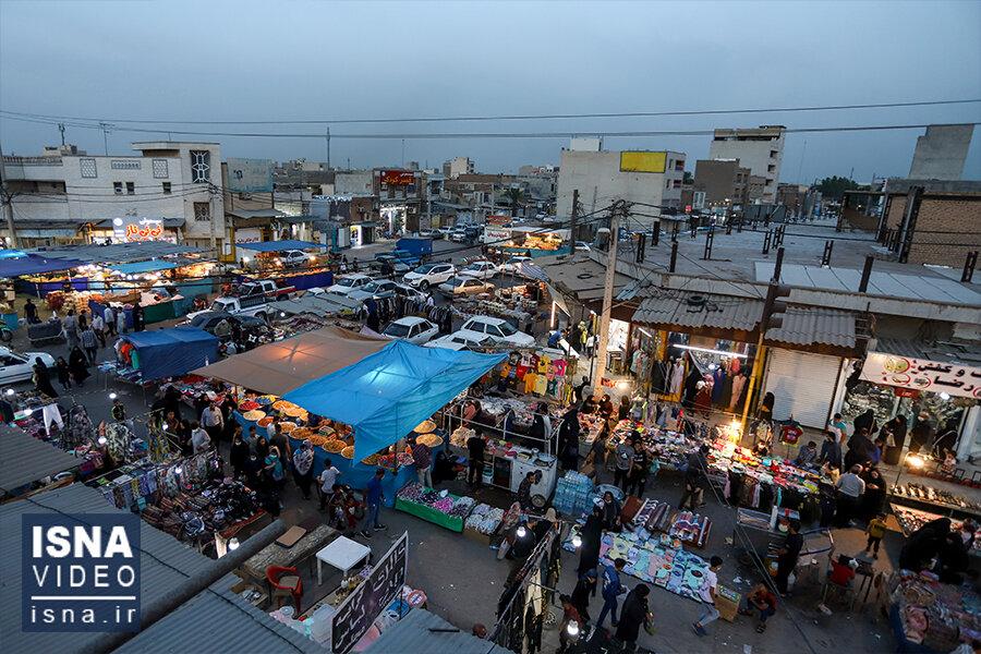 ویدئو / بازار عید فطر اهواز در روزهای کرونایی