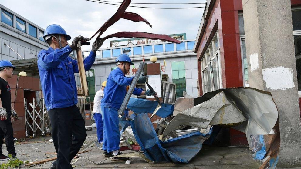 طوفان در چین ۱۰ کشته و صدها مصدوم برجا گذاشت