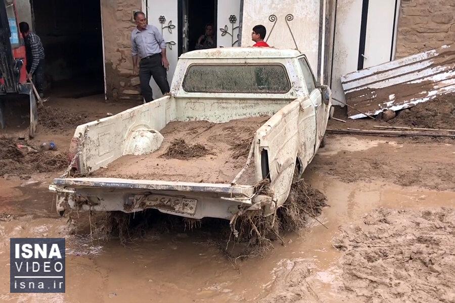 ویدئو / خسارات سیل ناگهانی در روستاهای قزوین