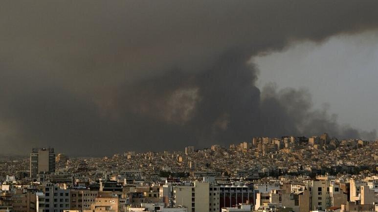 گسترش آتش سوزی های جنگلی در یونان و تخلیه برخی مناطق آتن