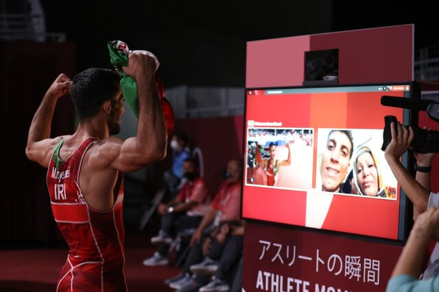 تماس تصویری گرایی با مادرش پس از قهرمانی المپیک/ بنا فن کمر خورد!