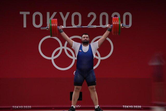 علی داودی در یکضرب دوم شد + فیلم/ رکوردشکنی حیرت انگیز غول گرجی در المپیک